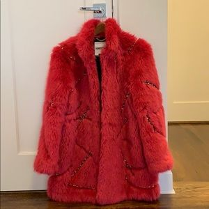 MOSCHINO Synthetic fur jacket